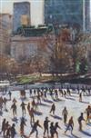 § Clive McCartney (b.1949) The Skaters, Central Park 23 x 16in.