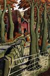§ Simon Palmer (b.1956) 'The Small Farmer and the Large Farm Worker' 24 x 16.5in.