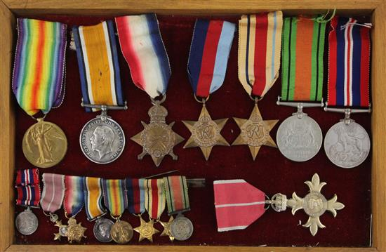 A WWI / WWII Military OBE group of seven medals to G. Jenkins, Bimbashi Service with RN
