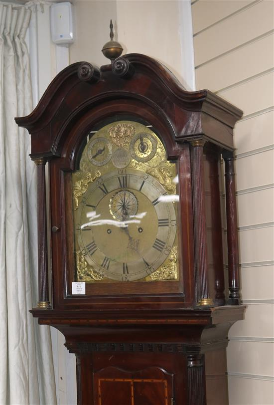 An 18th century and later mahogany longcase clock, Carter of Uxbridge, 7ft 8.5in.