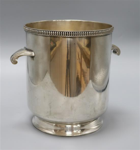 A French silver plated champagne bucket height 24cm