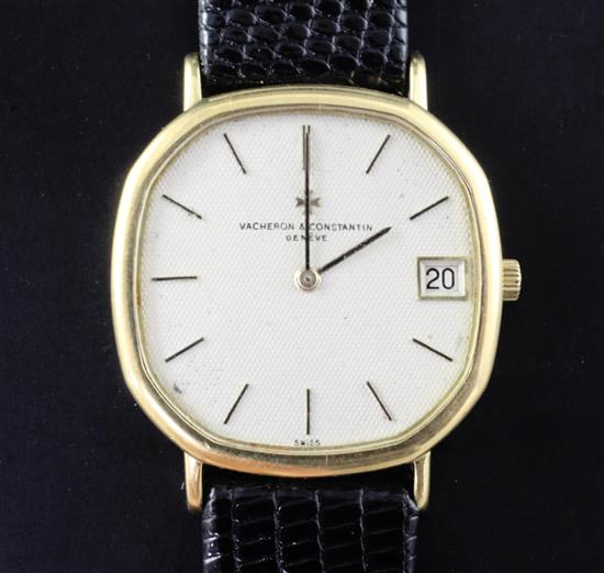 A gentlemans 18ct gold Vacheron & Constantin automatic dress wrist watch,