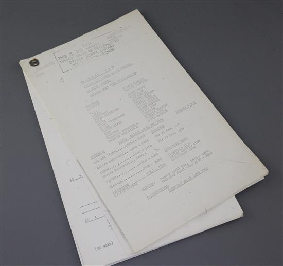 Dr Who: Five rehearsal scripts for the original four and one later episode,