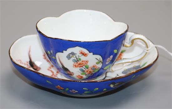 A Meissen cup and saucer