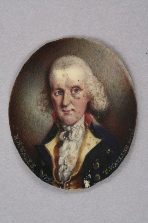 Thomas Watling (fl.1801-3) Australian Miniature of John White Esq, Surgeon General of New South Wales 2 x 1.5in. & tassie type plaque