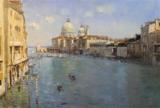 § Matthew Alexander (b. 1953) The Grand Canal, Venice 23.5 x 35.5in.