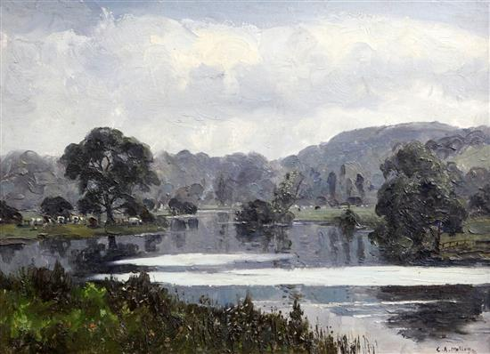 Campbell Archibald Mellon (1878-1955) June Morning, 8.30am, Weston on Trent 11.5 x 15.5in.
