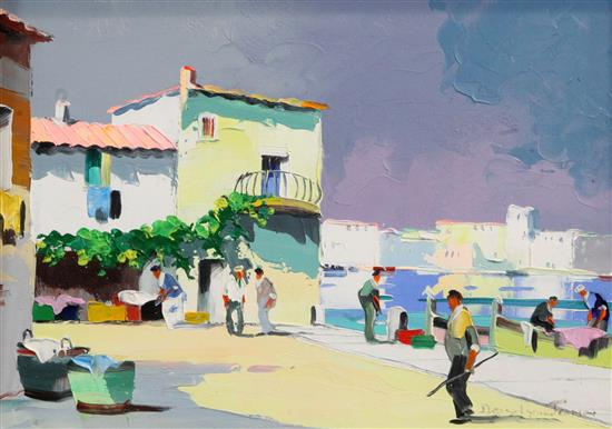 § Cecil Rochfort DOyly John (1906-1993) Mistral Time off French Coast, Cap DAntibes 10 x 14in.