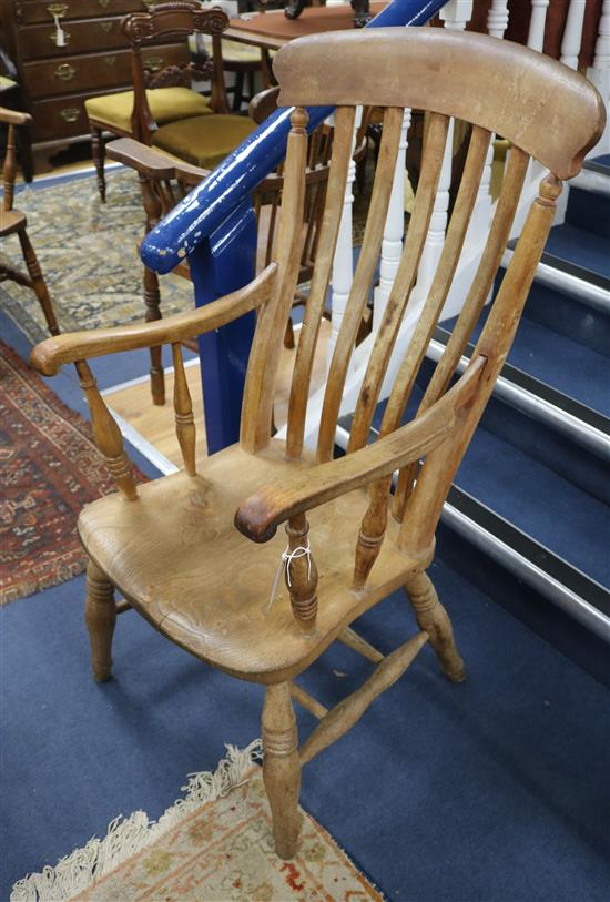 Three Windsor chairs