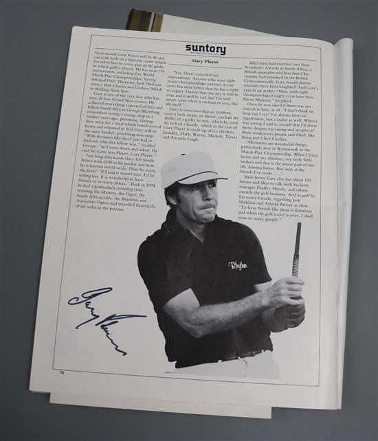 The Official Programme for the 1981 Suntory World Match Play Championship, including eleven photographs