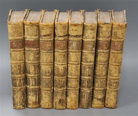 Spectator - The Spectator [by Addison, Steele and others], 8 vols, 8vo, calf, with frontises, London 1753