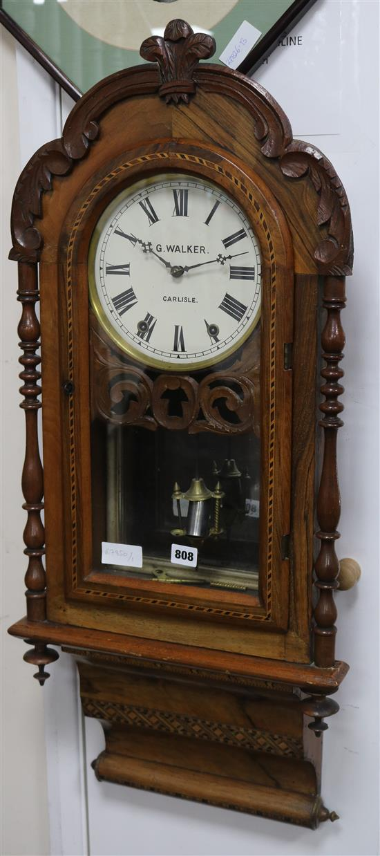 A G. Walker wall clock W.41cm