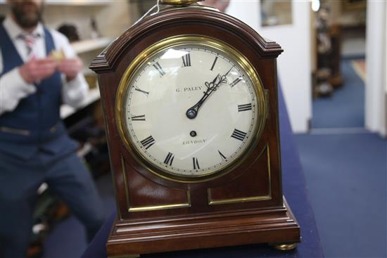 G. Paley of London, a large mahogany cased regulator, 16in.
