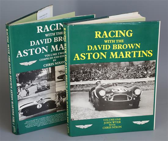 Wyer, John and Nixon, Chris - Racing with the David Brown Aston Martins, 2 vols, quarto, with d.js,