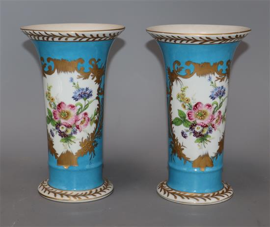 A pair of porcelain Royale vases height 20cm