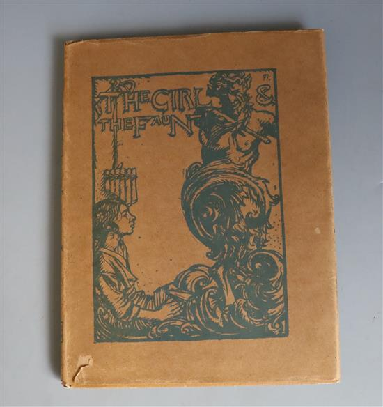 Phillpotts, Eden - The Girl and the Faun, illustrated by Frank Brangwyn, quarto, cloth with d.j.,