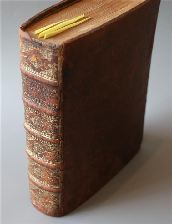 Wicquefort, Abraham de - LAmbassadeur et ses fonctions, qto, calf, 2 vols in one, writings to fly leaf,
