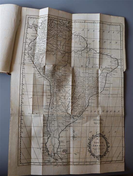 Robertson, William - The History of America, 7th edition, 3 vols, 8vo, period calf, with 3 (of 4) folding maps and