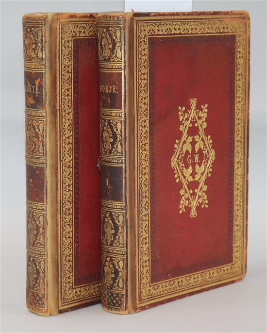 Combe, William - The English Dance of Death, 1st edition in book form, 2 vols, 8vo, later bound morocco gilt,