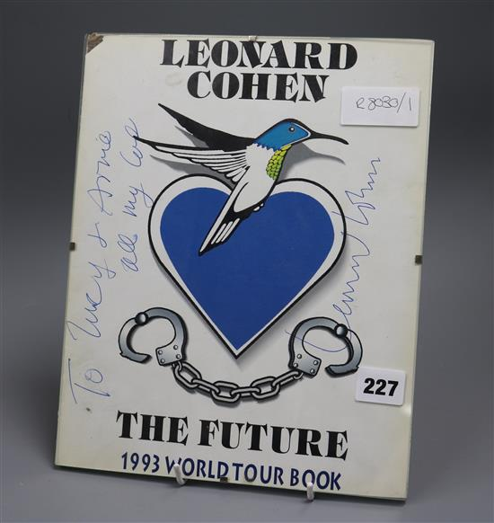 Leonard Cohen, The Future, signed sleeve of a poster or record sleeve