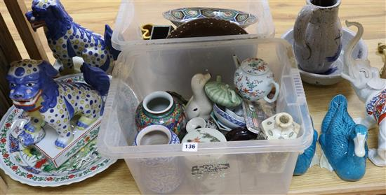 A collection of Oriental and European ceramics
