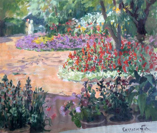 Ethel Carrick Fox (1872-1952) Deputy commissioners garden Agra, India, 14.5 x 17.5in.