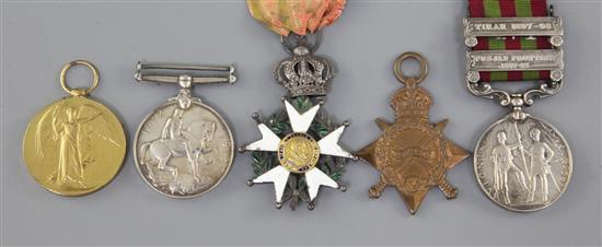 An India group of medals to Major K.L.W. MacKenzie, 62-Punjabis
