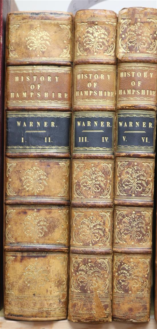 Y.D. - Collections for the History of Hampshire, 6 vols in 3, quarto, tree calf, 1 of 250, London [1795]