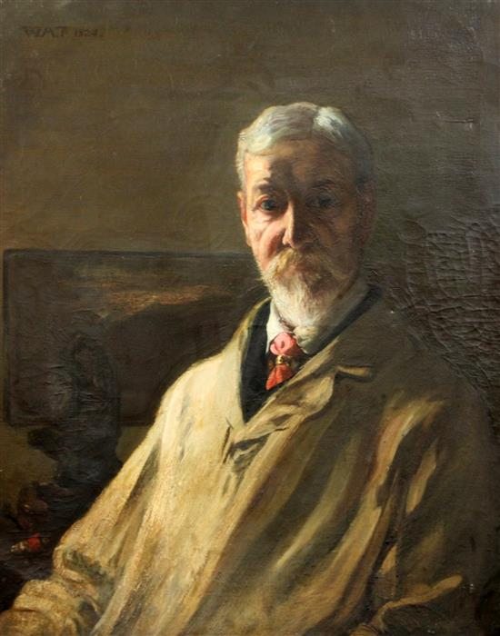 W.A.T 1924 Portrait of William Shackleton (1872-1933) 30 x 25in. unframed.