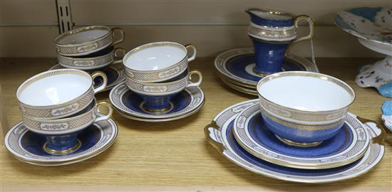 A Royal Doulton gilt decorated tea set
