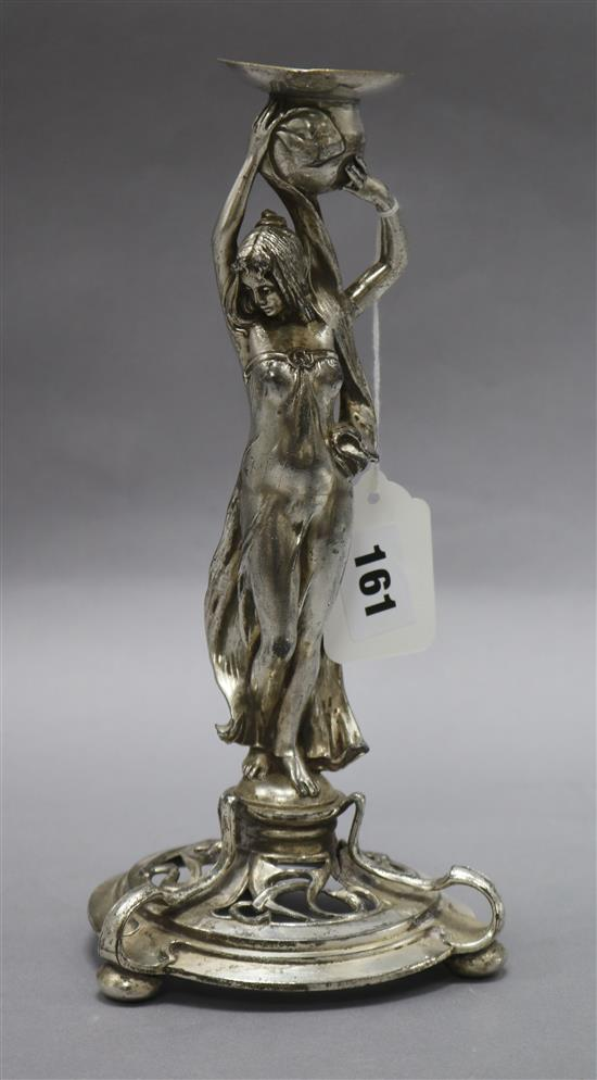 A WMF figural candlestick height 25cm