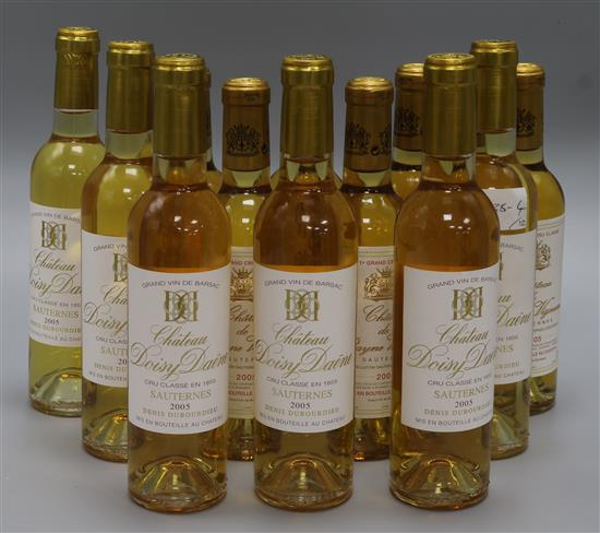 Sauternes- Six half bottles of Chateau Rayne Vigneau, 2005 and six half bottles of Doisy Daene, 2005