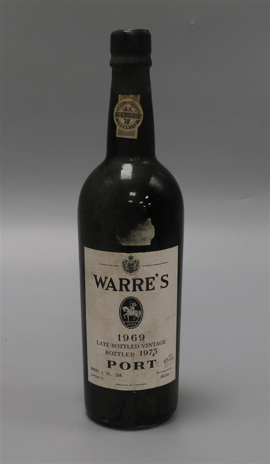 A bottle of Warres 1969 Vintage Port