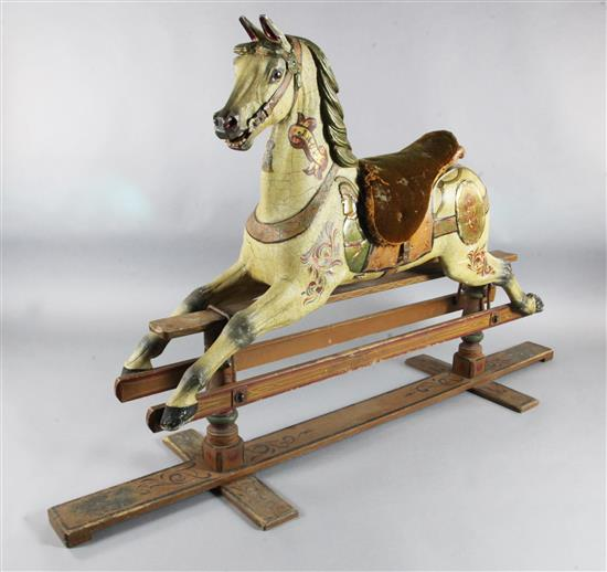 Orton Spooner A Carved And Painted Wood Carousel Horse Jack H
