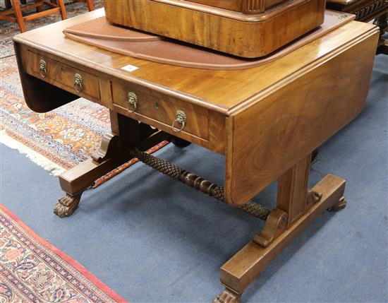 A Regency mahogany sofa table W.92cm