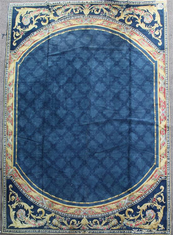 A large Savonnerie carpet, 22ft 9in by 17ft.