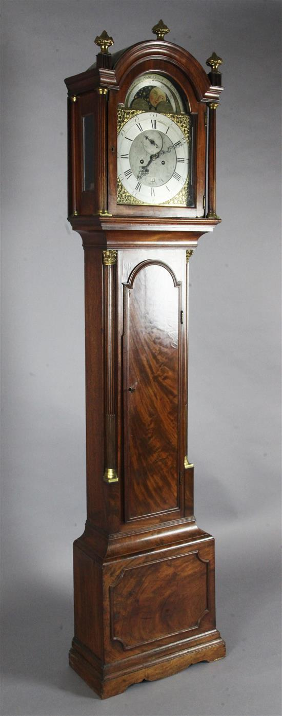 Robert Sanderson, London. An early 19th century mahogany eight day longcase clock, H.7ft 1.5in.
