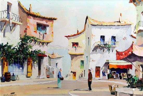 § Cecil Rochfort DOyly John (1906-1993) San Remo, Italy 18 x 26in.